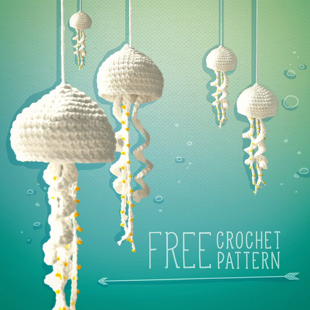 Free Crochet Pattern For Jellyfish : lalylala free jellyfish crochet pattern